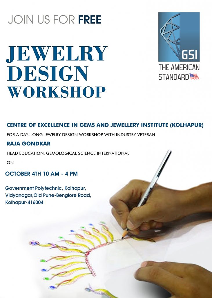 GSI To Host Day — Long Jewelry Design Workshop at Center Of Excellence Gem & Jewelry Institute Kolhapur 2
